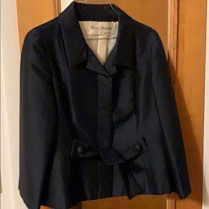 Black vintage Teal Traina jacket. 1960's.